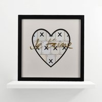 International Love Je t'aime Vintage Letter Frame