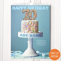 Personalised 70th Birthday Calendar - 70th Birthday Gifts