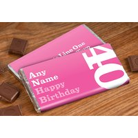 Personalised Chocolate Bar - 40th Birthday for Her - Getting Personal Gifts