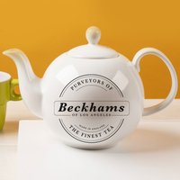 Personalised Bone China Teapot - Purveyors of the Finest Tea - Teapot Gifts