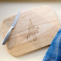 Engraved Medium Rectangular Chopping Board - Banner - Chopping Board Gifts
