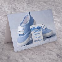 Personalised Card - Baby Boy Shoes - Baby Boy Gifts