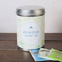 Personalised Herbal Tea Tin - Green Floral