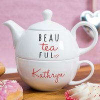 Personalised Tea For One - You Are Beau-Tea-Ful