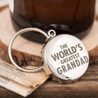 Personalised Bottle Top Keyring With Bottle Opener - World's Greatest - Bottle Opener Gifts