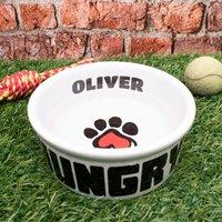 Personalised Paw Print Pet Bowl - Bowl Gifts