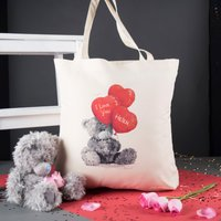 Personalised Me To You Tote Bag – Heart Balloons - Balloons Gifts