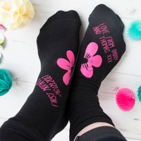 Personalised Socks - First Mother's Day, Flower