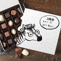 Personalised Belgian Chocolates - Banter Pants, Let's Party - Chocolates Gifts