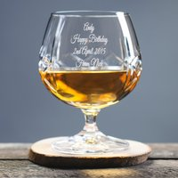 Engraved Crystal Brandy Glass - Brandy Gifts