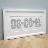 Personalised Typographic Date Print