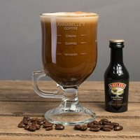Personalised Irish Coffee Glass With Baileys Miniature - Whiskey Measure - Baileys Gifts