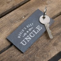 Engraved Slate Key Ring - World's Best - Key Ring Gifts