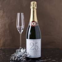 Personalised Luxury Anniversary Champagne - 25 Years Married