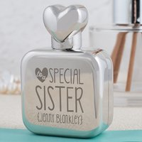 Personalised Perfume Atomiser With Heart Lid - Special Sister - Sister Gifts