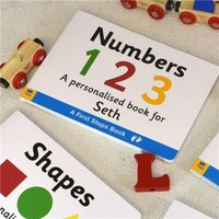 Personalised First Steps Numbers Board Book For Toddlers - Toddler Gifts