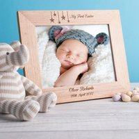 Engraved Wooden Picture Frame - My First Easter