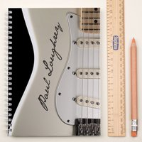 Personalised Notebook - Cream Guitar - Guitar Gifts