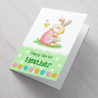 Personalised Card - Little Easter Bunny - Easter Gifts