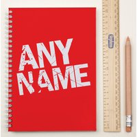 Personalised Notebook - Cherry Red