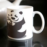 Personalised Mug - Happy Pandas - Pandas Gifts
