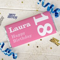 Personalised Chocolate Bar - 18th Birthday for Her - 18th Gifts