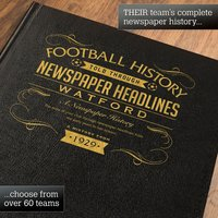 Personalised Watford Football Book - Football Gifts