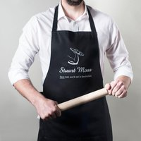 Personalised Apron - Real Men Work Out In the Kitchen - Men Gifts