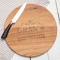 Personalised Barrel Top Oak Chopping Board - Heart Element - Chopping Board Gifts