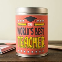 Personalised Coffee Tin - World's Best Teacher - Teacher Gifts