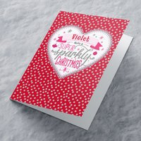 Personalised Christmas Card - Super Sparkly - Sparkly Gifts