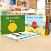 Personalised First Steps Shapes Board Book For Toddlers - Toddler Gifts