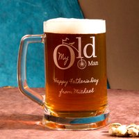 Image of Personalised Pint Tankard - My Old Man