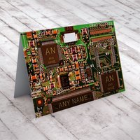 Personalised Card - Computer Chip - Computer Gifts