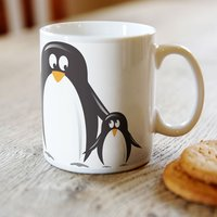 Personalised Mug - Happy Penguins - Penguins Gifts