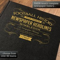 Personalised Wimbledon (1962 - 2004) Football Book - Football Gifts