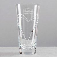 Engraved Swarovski® Elements Glass Vase - Vase Gifts