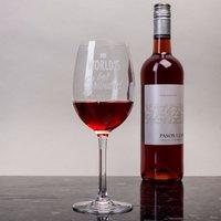 Personalised Wine Glass - World's Best Grandad - Grandad Gifts
