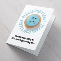 Image of Personalised Card - Leaving Sad Cake