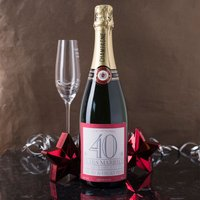 Luxury Personalised Champagne - Anniversary - 40 Years Married