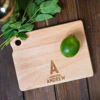 Personalised Mini Wooden Chopping Board - Initials - Chopping Board Gifts