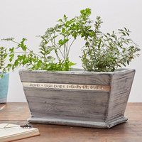 Personalised Whitewashed Wood Pot Planter - Wood Gifts