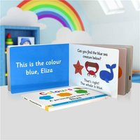 Personalised First Steps Colours Board Book For Toddlers - Colours Gifts