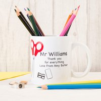 Personalised Stationery Mug With Personalised Pencils - Stationery Gifts