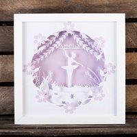 Personalised Papercut Mood Light - Ballerina - Decorations Gifts