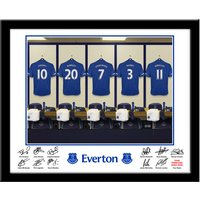 Personalised Everton Dressing Room Print - Everton Gifts