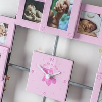 My First Year Collage Clock for Baby Girls