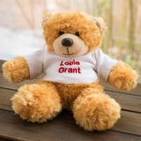 Personalised Small Bonnie Bear With White T-Shirt
