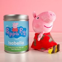 Personalised Peppa Pig In A Tin