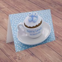 Personalised Card - Baby Boy Cup - Baby Boy Gifts